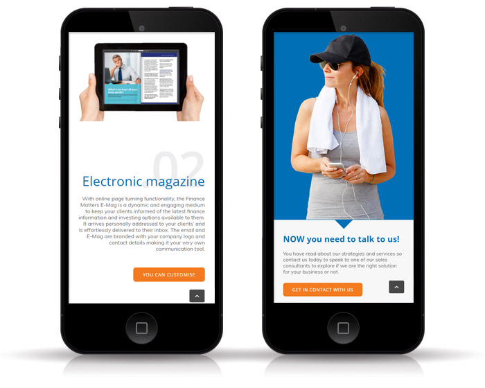 Mobile ready websites for mortgage brokers