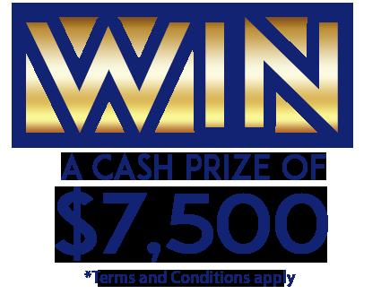 WIN a cash prize